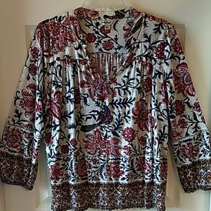 Beautiful LUCKY BRAND Boho Top - sz L